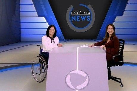 Célia Leão e Tainá Falcão no Estúdio News