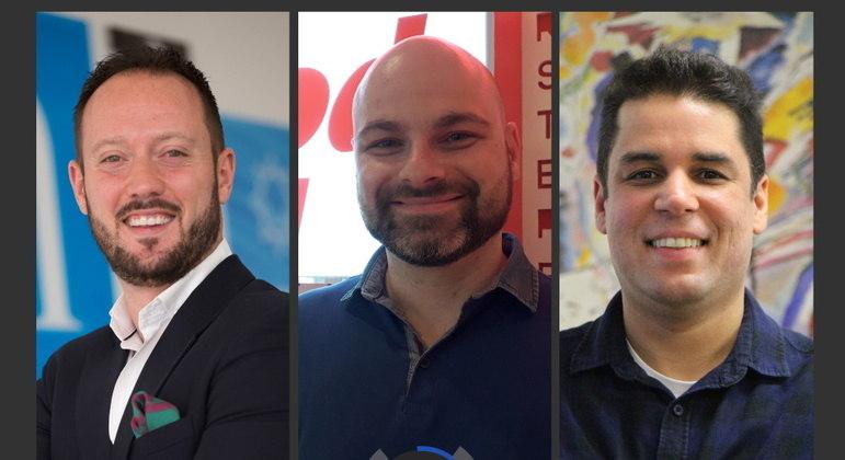 Roberto Butragueño, Arnaldo Bertolaccini e Felipe Zmoginski