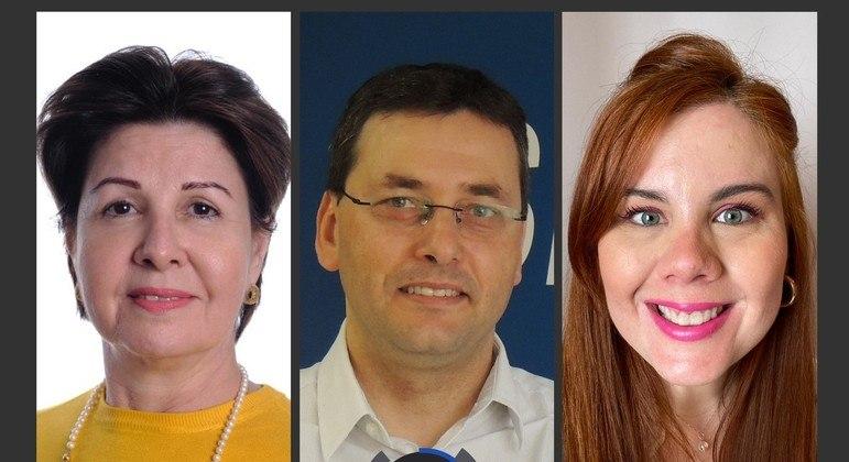 Sonia Helena dos Santos, Cesar Rissete e Ludmilla Rossi