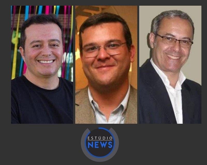 Marcelo Flores, Fábio Bentes e Paulo Passos participam do Estúdio News