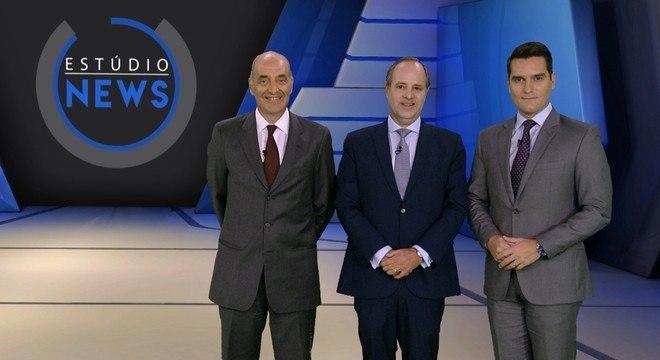 Estúdio News com Basílio Jafet, Luiz França e Gustavo Toledo