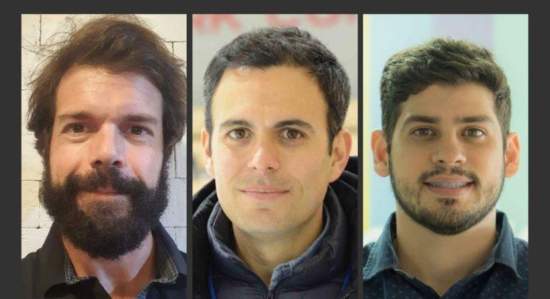 Diogo Seco, Tiago Maranhão e Ronaldo Tenório