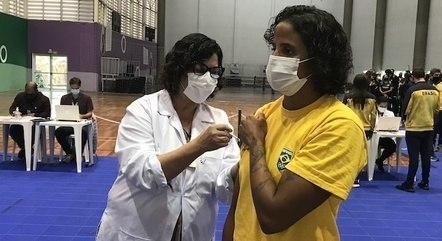 Etiene recebeu 2ª dose da vacinação contra covid