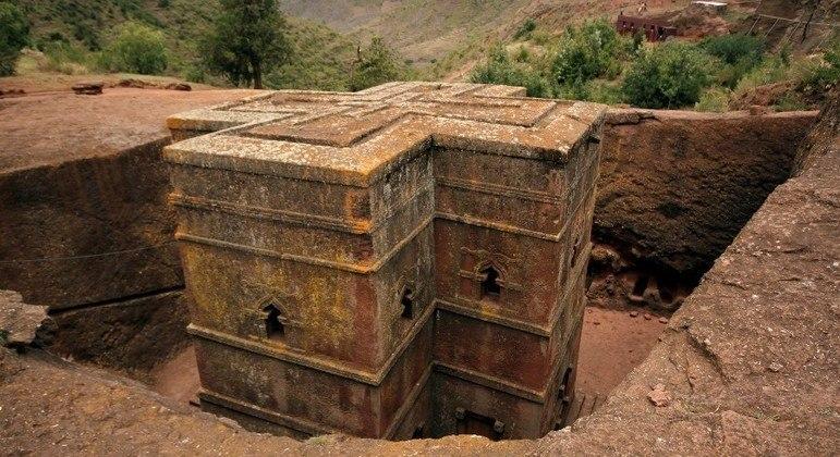 A vila de Lalibela é considerada um patrimônio da humanidade pela Unesco