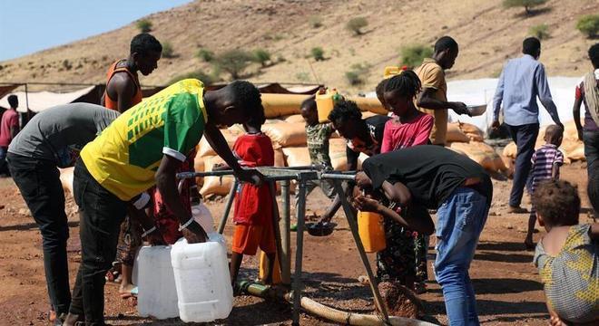 Conflito levou milhares de etíopes a se refugiarem no Sudão