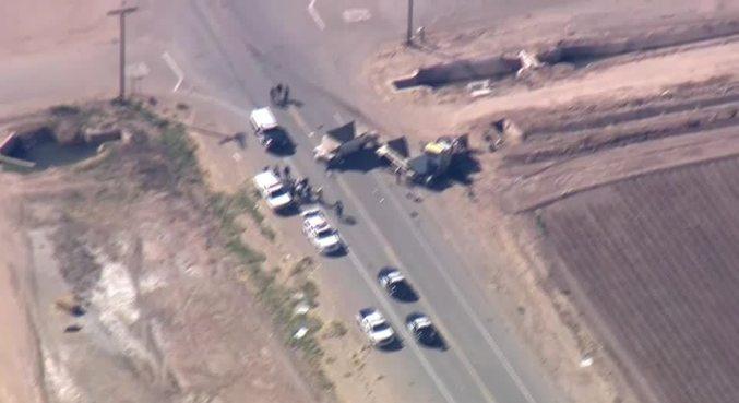Acidente aconteceu perto da fronteira dos EUA com o México, na Califórnia