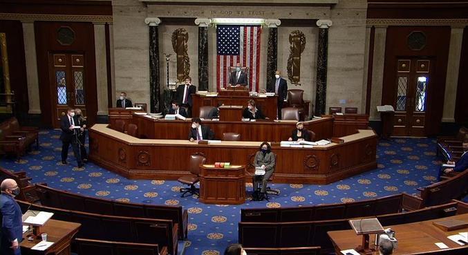 Câmara dos Representantes debate o impeachment de Donald Trump