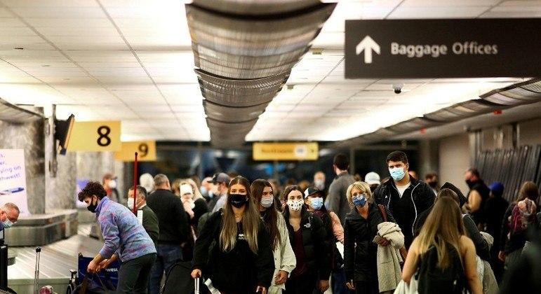 EUA vão aceitar a partir do dia 8 de novembro entrada de viajantes imunizados contra a Covid-19