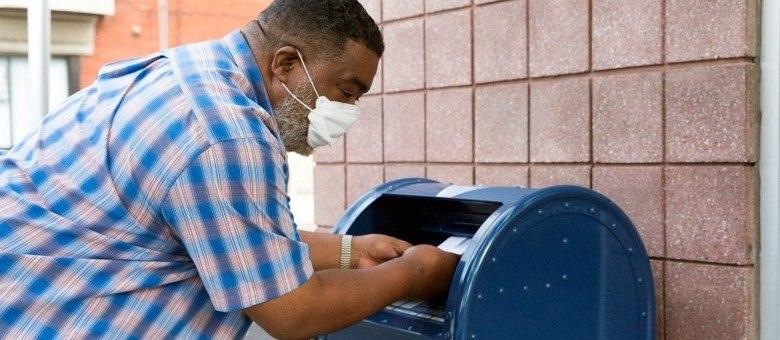 Milhões de americanos enviaram os votos pelo correio