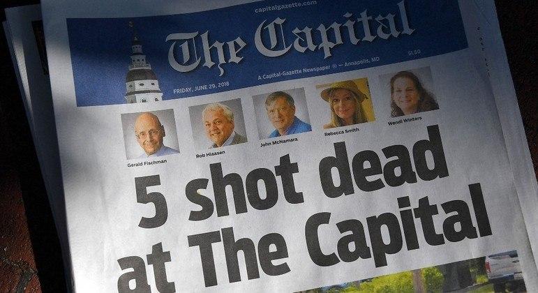 Jornalistas do Capital Gazette foram assassinados dentro da redação