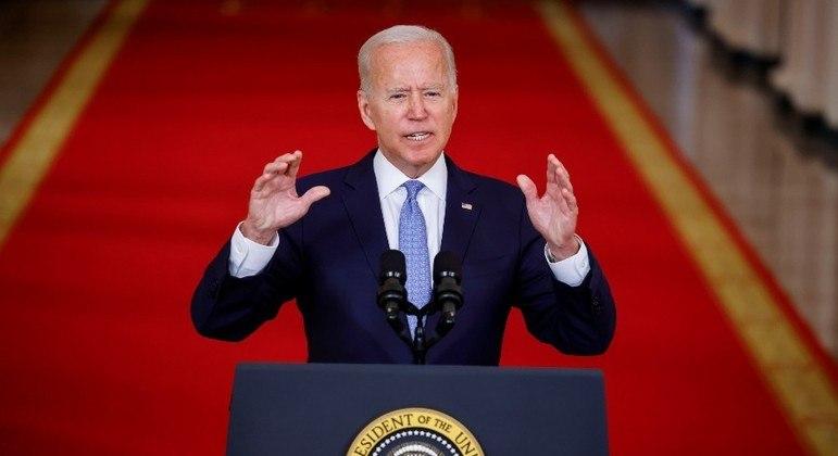 Biden fez seu primeiro pronunciamento após o fim da retirada do Afeganistão