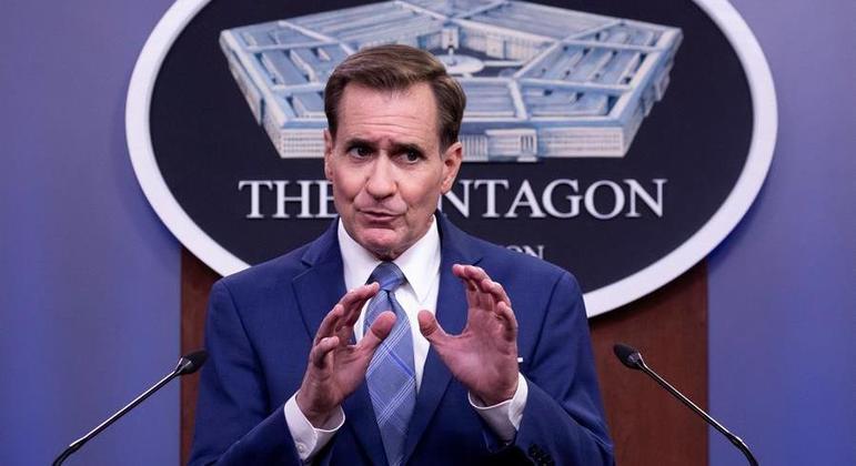 Porta-voz do Pentágono, John Kirby deu coletiva sobre o Afeganistão nesta segunda