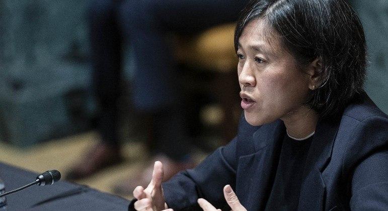Katherine Tai defendeu a quebra de patentes como uma 'medida extraordinária'
