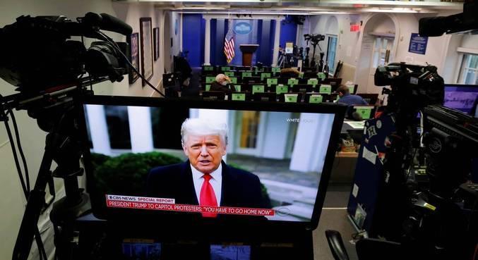 Presidente dos EUA  grava vídeo pedindo para manifestantes irem para casa