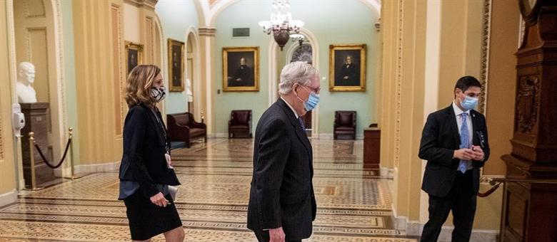 Líder republicano do Senado, McConnell reconheceu a vitória de Biden