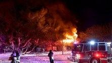 Em meio ao frio, Texas também enfrenta incêndios em casas