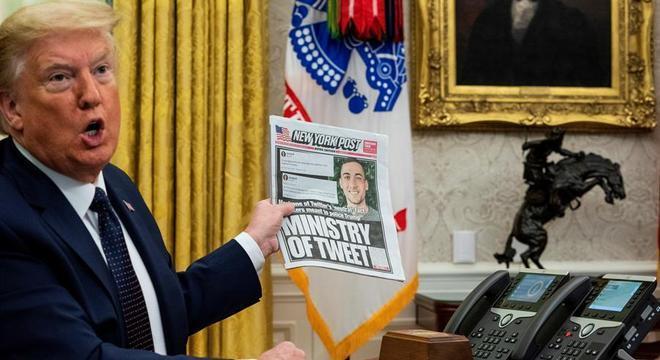 Trump protestou contra a verificação de fatos em dois de seus tuítes