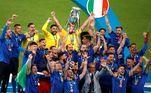Itália recebe o troféu de campeã da Euro 2021
