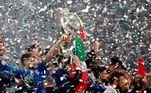 Troféu, comemoração e papel picado para a Itália, grande campeã da Eurocopa 2021