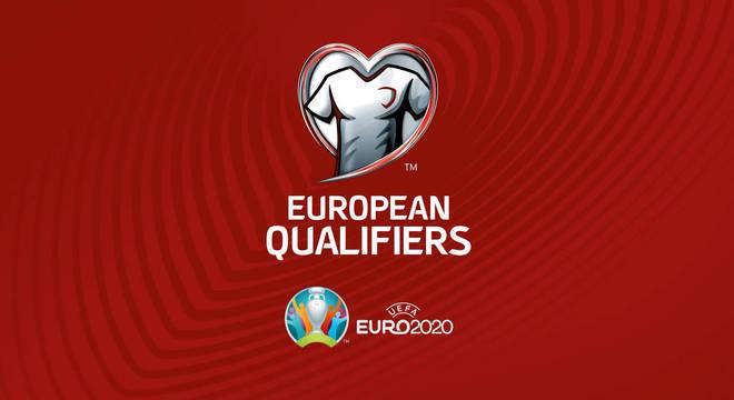 O logotipo das eliminatórias da Eurocopa