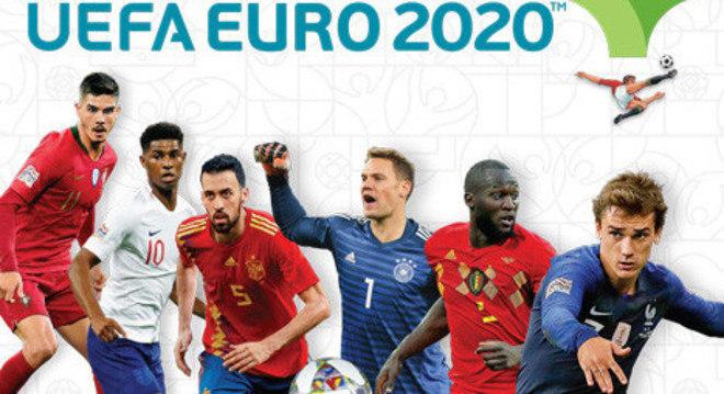 A capa do álbum de figurinhas da Eurocopa de 2020