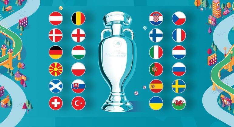 Todos os 24 países da Euro2020