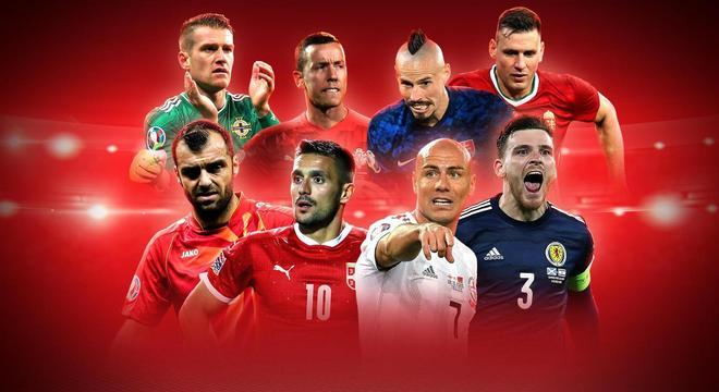 """Os oito que disputaram a decisão dos """"playoffs"""" da Eurocopa 2020/2021"""