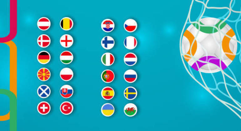 Todas as seleções da Euro2020