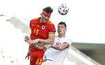 O atacante Kieffer Moore marcou de cabeça o gol de empate em uma das poucas chances de Gale. No segundo jogo, a Suíça enfrenta a Itália, em Roma, na próxima quarta-feira (16); Gales, por sua vez, fica na capital do Azerbaijão para enfrentar os turcos no mesmo dia