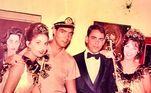 Carnaval de 1963. Os então casais Eva Wilma e John Herbert com Walter Clark e Ilka Soares