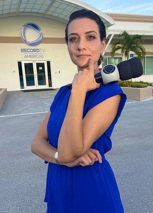 Evelyn Bastos, repórter da Record