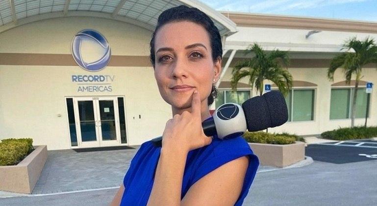 Evelyn Bastos é a correspondente da Record nos Estados Unidos