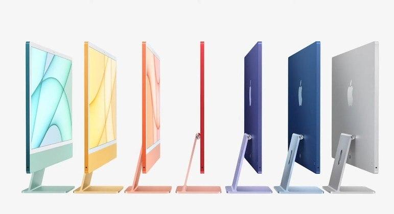 Novo iMac tem 7 opções de cores para o usuário escolher