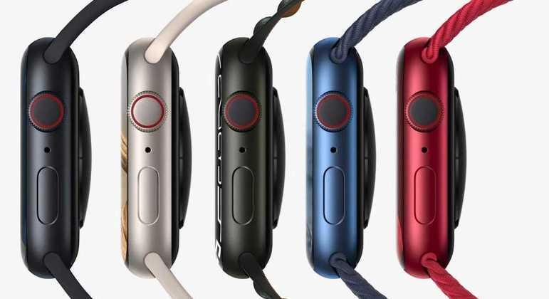 Apple Watches Series 7 será vendido em cinco opções de cores