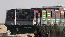 Egito exige R$ 5,7 bi para liberar navio que parou o canal de Suez