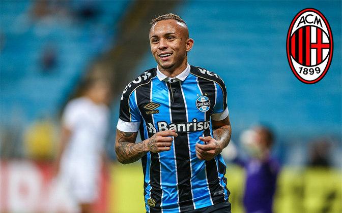 Everton. Posição: Atacante. Idade: 24 anos. Clube atual: Grêmio. Clube interessado: Milan.