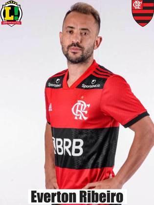 Everton Ribeiro: 7,0 – Também foi um dos destaques do Flamengo em campo. Acertou boa parte dos passes que tentou, construiu boas jogadas e foi importante no sistema defensivo. Além disso, deu a assistência para a bicicleta de Pedro, que culminou no pênalti e ainda participou do lance do segundo gol.