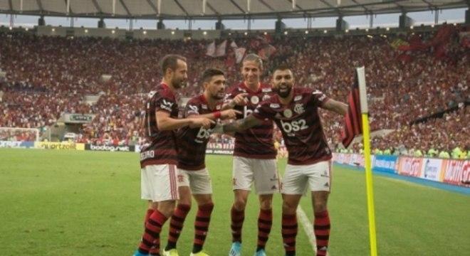 Everton Ribeiro, Arrascaeta, Filipe Luís e Gabigol - Flamengo