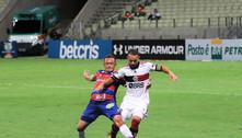 Flamengo empata com o Fortaleza e perde chance de colar no líder