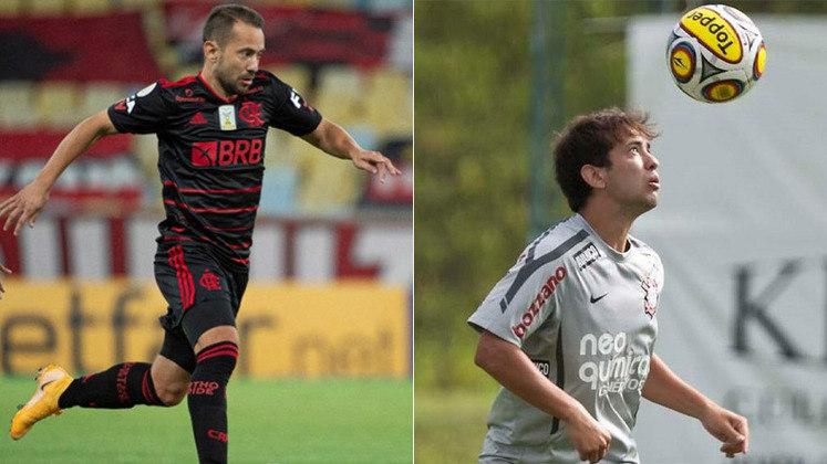 ÉVERTON RIBEIRO – O atual camisa 7 do Flamengo foi revelado na base do Corinthians, em 2007. Na época, Éverton atuava como lateral-esquerdo.