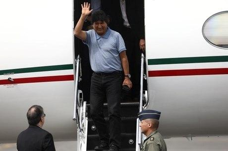 Evo Morales desembarcou no México