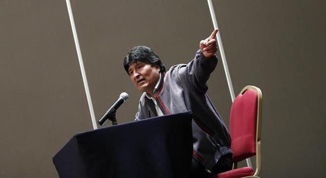 Evo Morales deu entrevista coletiva no México, onde está exilado