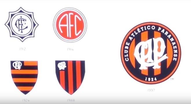 Evolução dos escudos do Atlético-PR