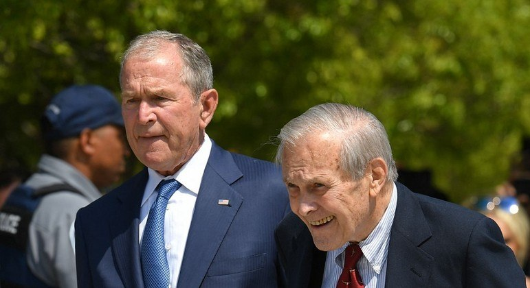 Ex-secretário da Defesa dos EUA Donald Rumsfeld