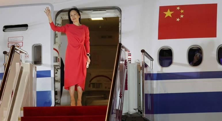 Meng Wanzhou (foto) é filha do fundador da empresa de tecnologia, Ren Zhengfe