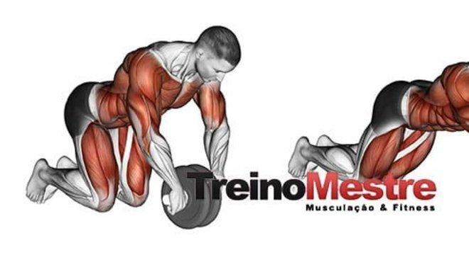 Exercício para core roda abdominal