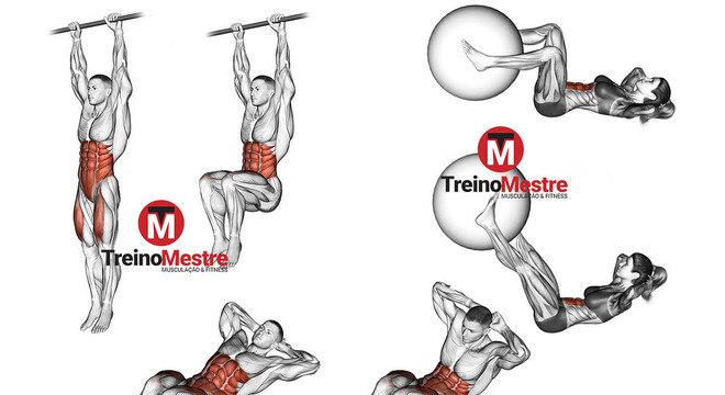 exercícios abdominal inferior abdômen