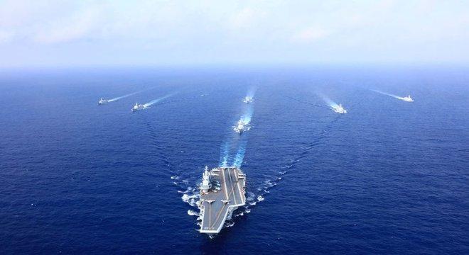 Investimentos na área naval estão entre os focos da China