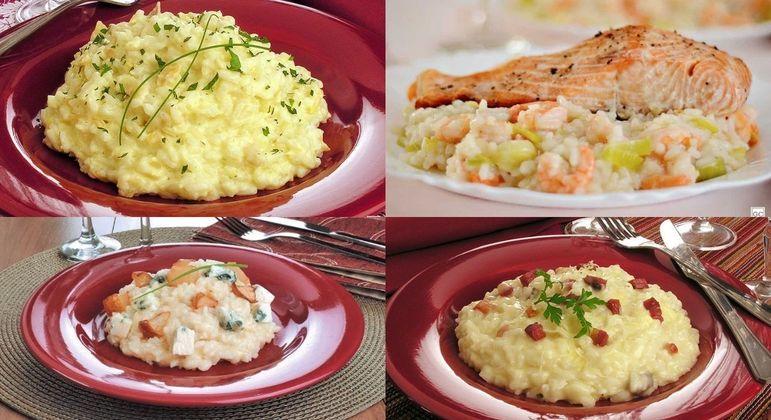 Experimente 6 receitas saborosas de risoto