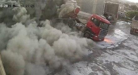 Circuito de segurança registrou a explosão